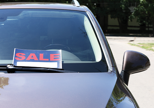 Stock image of car for sale