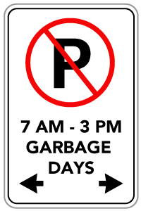parking sign with restrictions