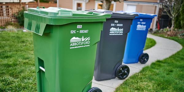 Image of curbside collection carts at home